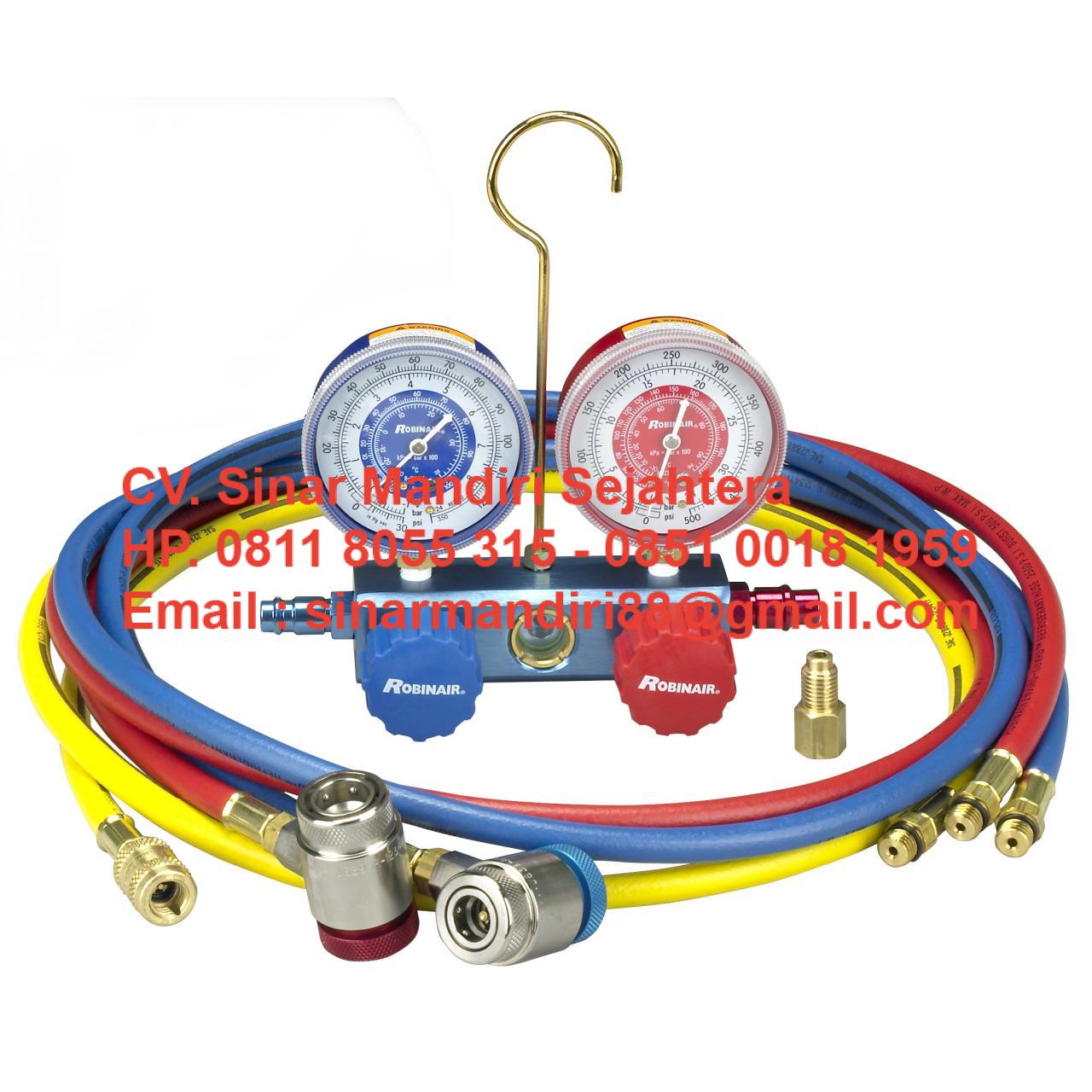 Manifold / Analyzer AC Robin Air R22 / R134a Refrigerants