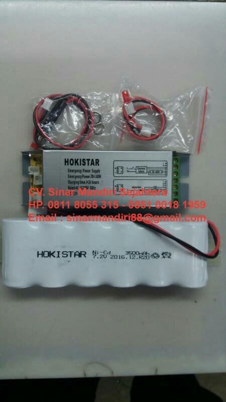 Battery Emergency untuk TLD 18W – 36W Hokistar