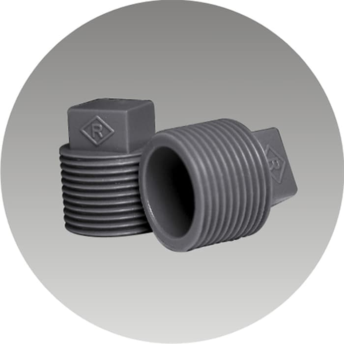 "Plug/Dop PVC Drat Luar 1/2"" AW Merk Rucika"