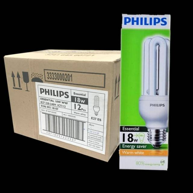 Lampu Essential E27 Philips 18W Putih