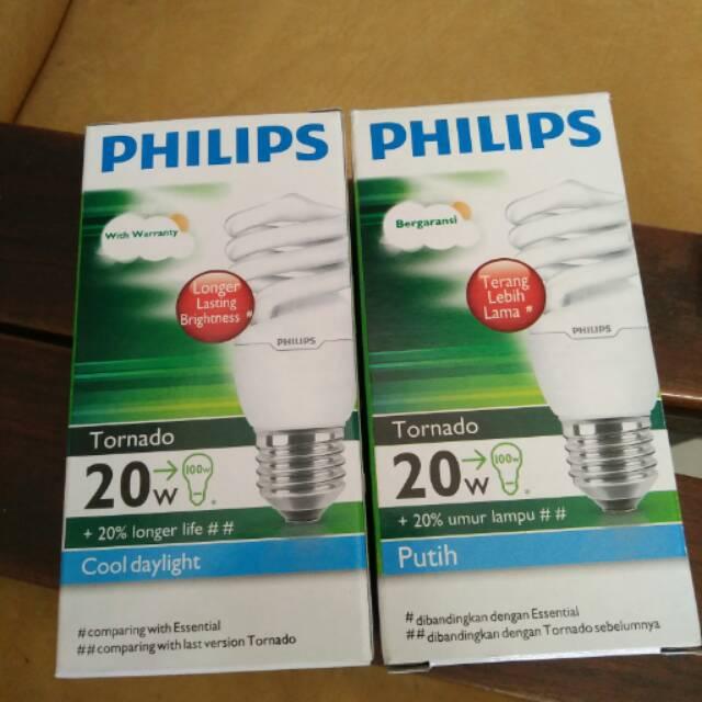Lampu Tornado E27 Philips 20W