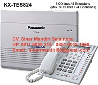 PABX Panasonic / Panasonic PABX KX-TES 824 ( 3 LINE 8 EXT ) IT COM